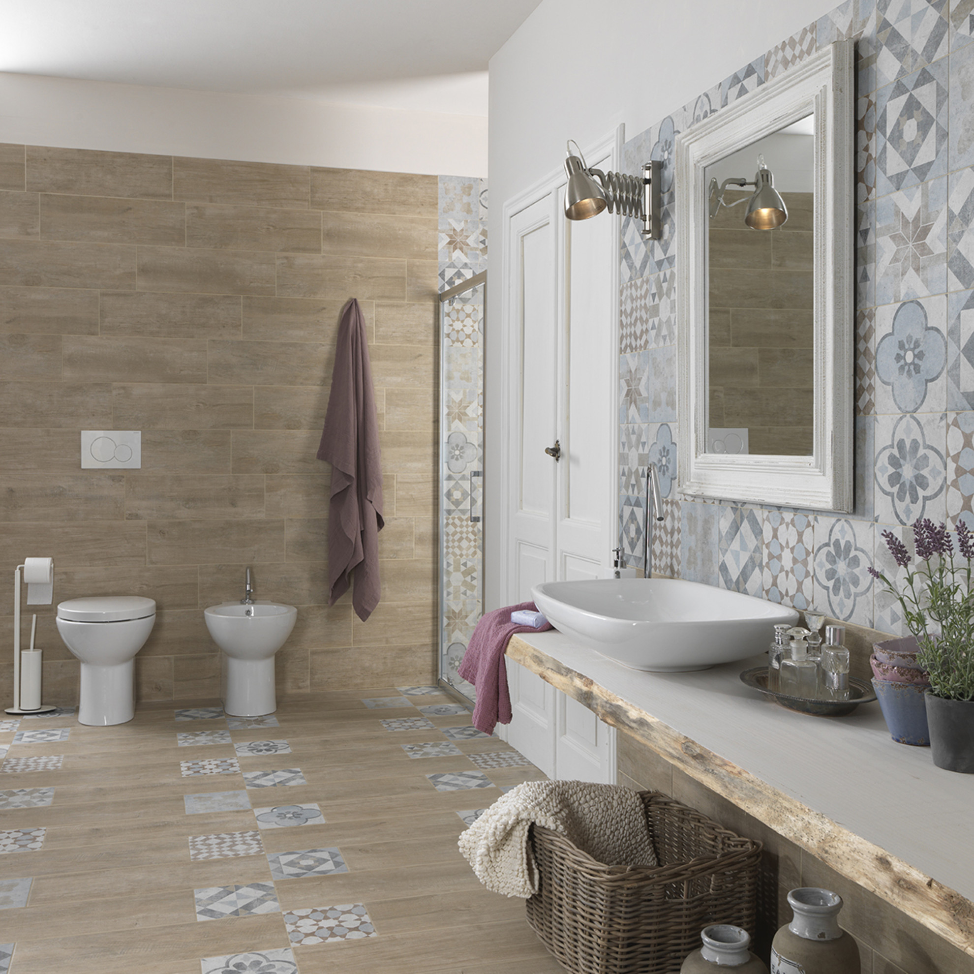 Come arredare il bagno la design for Leroy merlin piastrelle