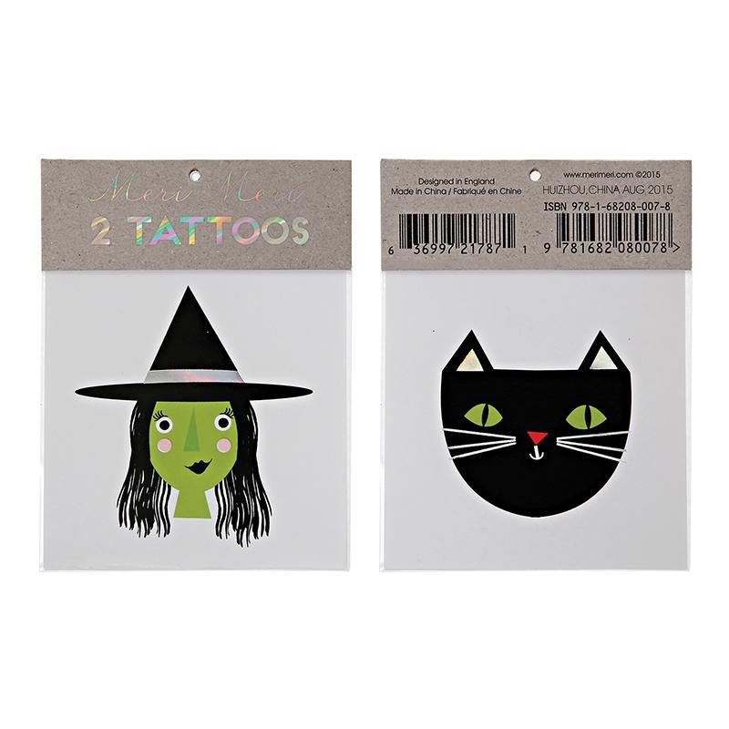 tatuaggi-halloween-strega-e-gatto-nero